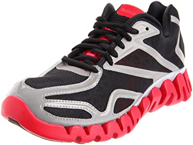 quality design 3b177 73efb Reebok Men s ZigSonic Running Shoe,Black Carbon Excellent Red Pure Silver,