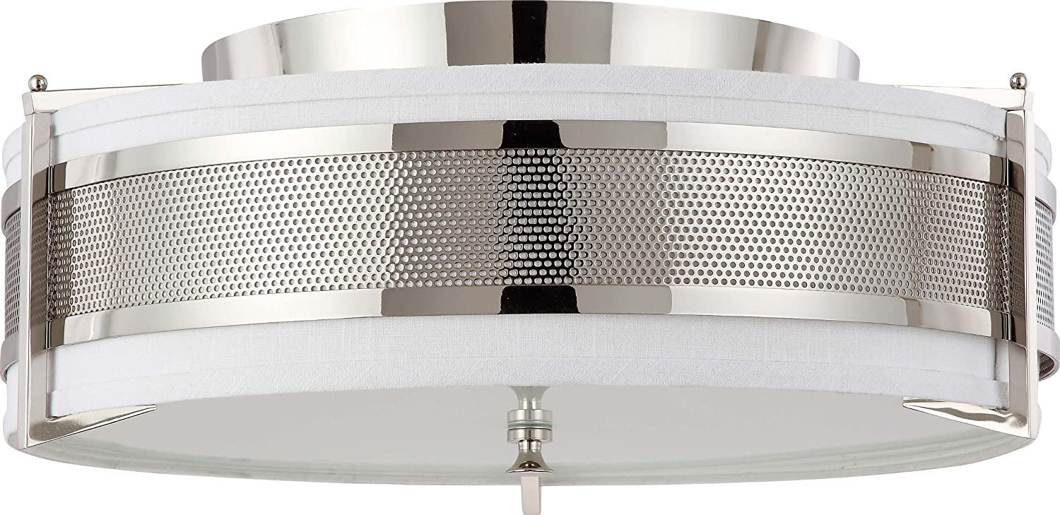 Nuvo Lighting 60/4447 Four Light Diesel Large Flush with Slate Gray ...