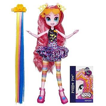 Amazoncom My Little Pony Equestria Girls Rainbow Rocks Pinkie - Rockin hairstyles dolls