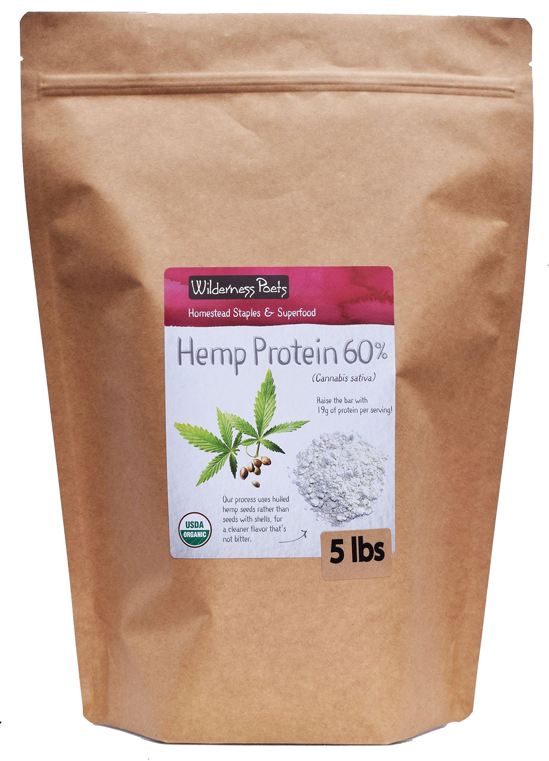 Wilderness Poets, Cold Pressed Organic Hemp Protein Powder, 19 G (80 Ounce - 5 Pound) by Wilderness Poets