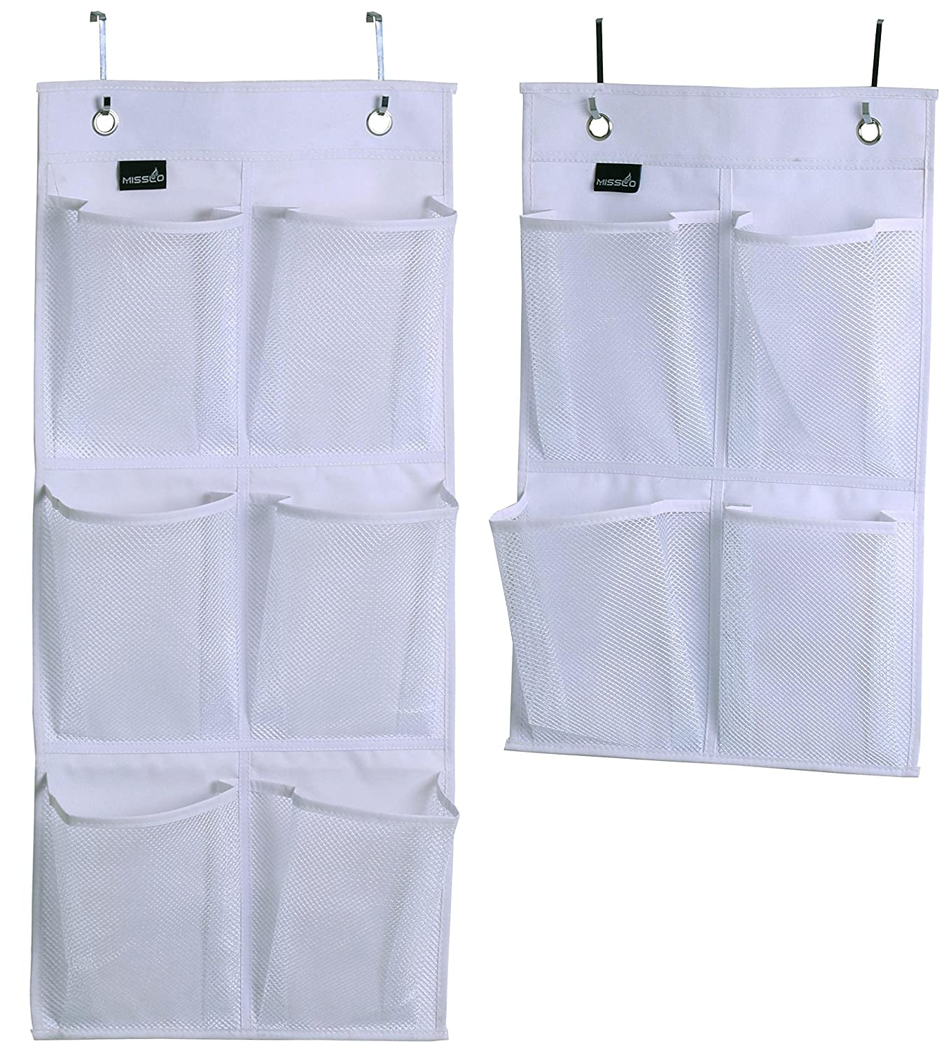 Misslo Over Door Organizer For Closet Pantry Narrow Door, Pack 2, White SYNCHKG114529