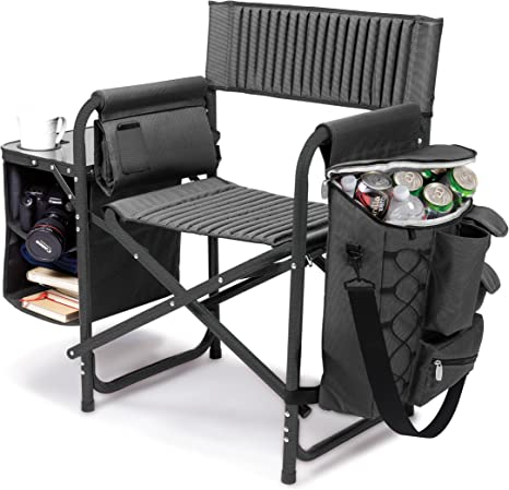 Black Pack of 2 ONIVA a Picnic Time brand Portable Folding Sports Chair