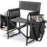 Picnic Time 'Fusion' Original Design Outdoor Folding Chair, Gray with Black Frame