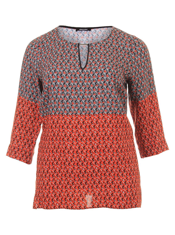 Bluse im Muster-Mix in bunt in Übergrößen (44, 46, 48, 50, 52) von Elena Miro