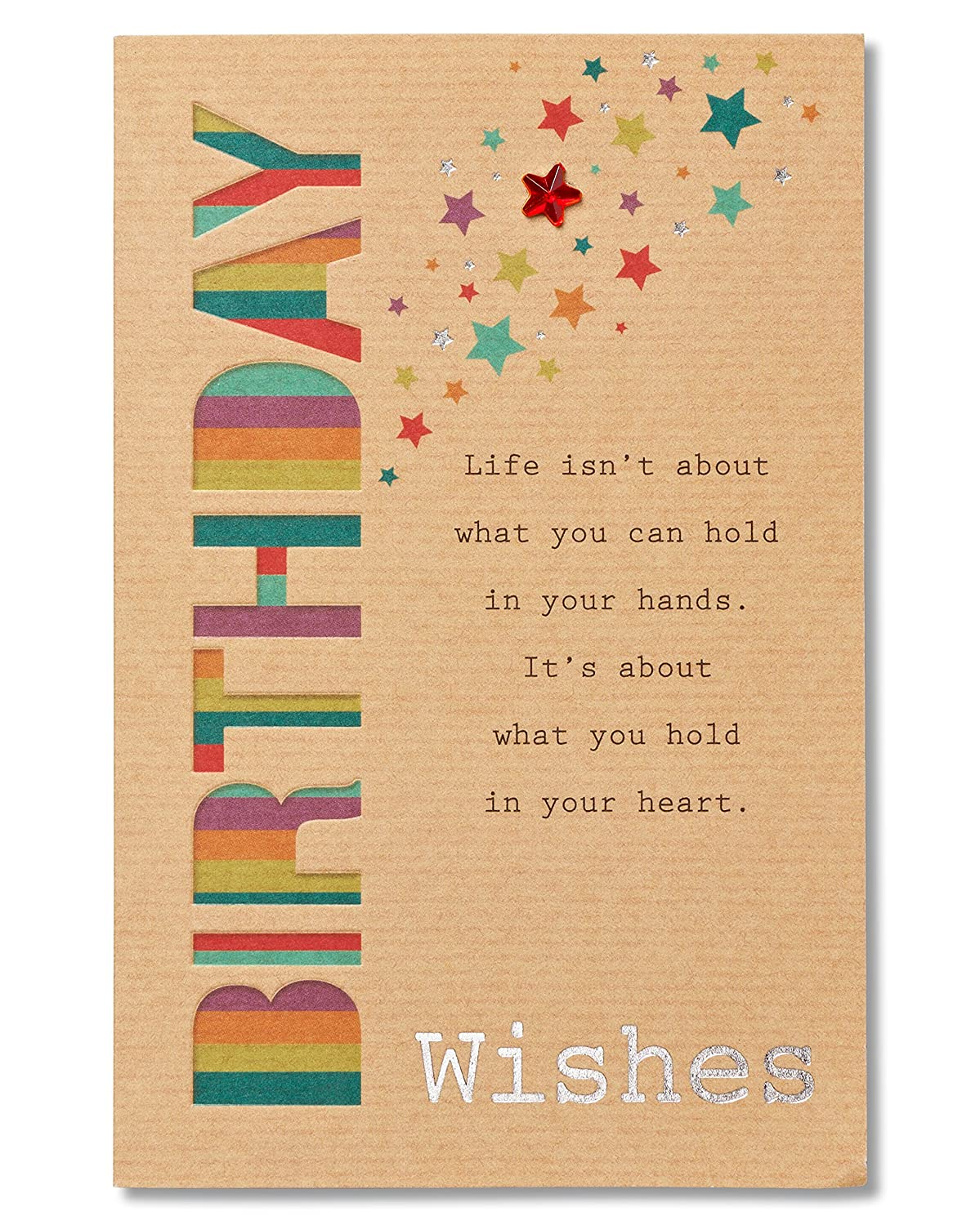Amazon american greetings birthday wishes birthday card with amazon american greetings birthday wishes birthday card with foil office products kristyandbryce Image collections