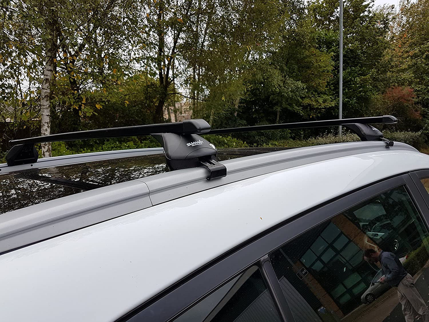 for Cars with Integrated Running Rails Summit SUP-857A Premium Bar in Black Steel Pair of