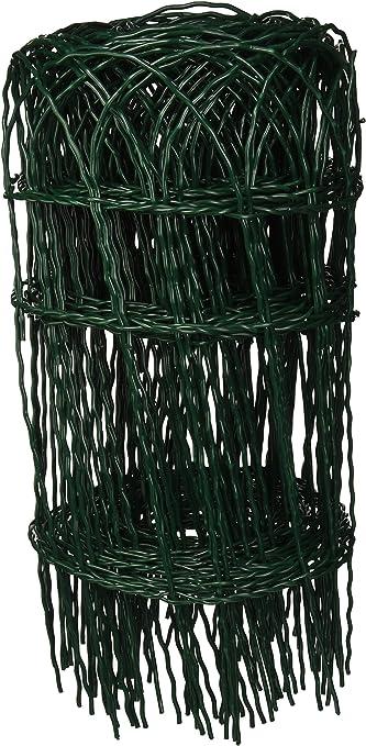 VERDELOOK Rete Metallica plastificata per Bordure 0.65x25 m Verde