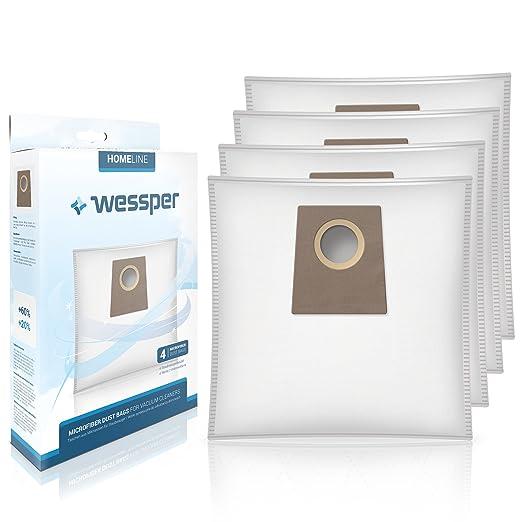 Wessper® Bolsas de aspiradora 468383 para Bosch Siemens VZ41AFG BBZ41FG BBZ51AFG 469873 VZ41GPLUS BBZ41GPLUS MegaFilt SuperTEX Typ G Swirl S62 S67 S68 S73 Y94 (4 Piezas): Amazon.es: Hogar