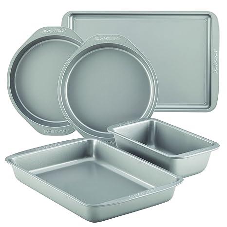 Farberware 46404 Nonstick Bakeware 5 Piece Baking Pan Set Gray