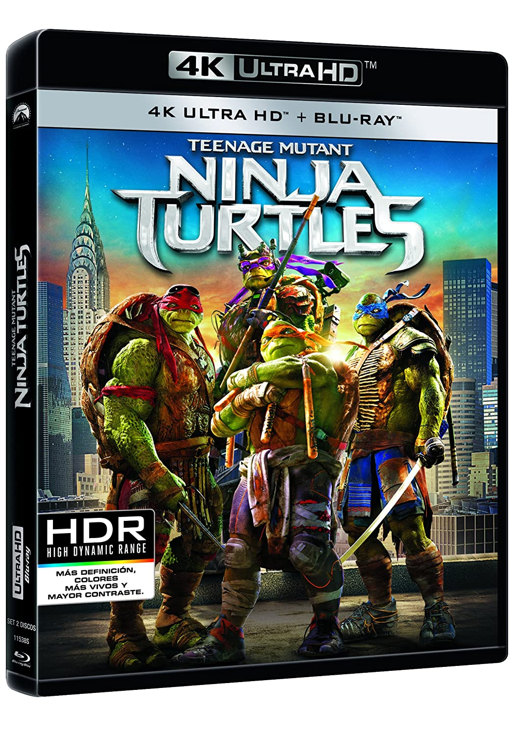 Ninja Turtles [Blu-ray]: Amazon.es: Megan Fox, Will Arnett ...
