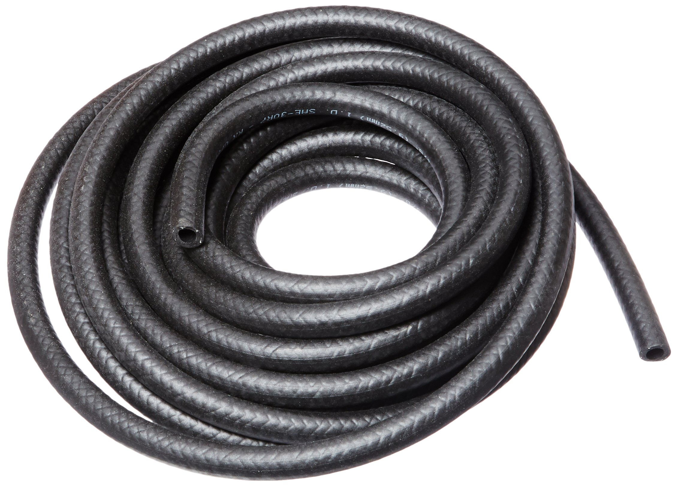 HBD Thermoid NBR/PVC SAE30R7 Premium Fuel Line Hose, 3/8'' x 25' Length, 0.375'' ID, Black by HBD Thermoid (Image #1)