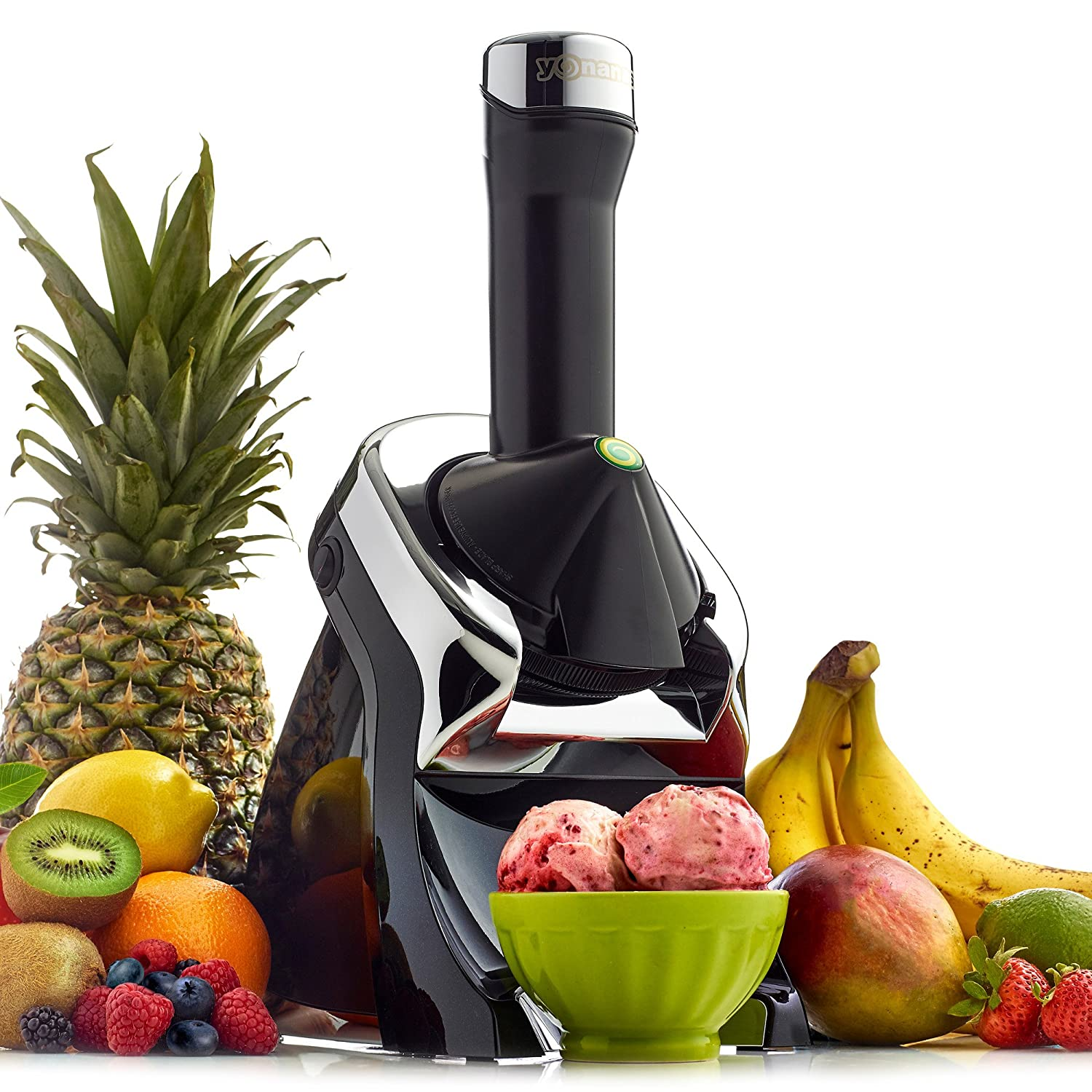 【並行輸入】Yonanas Elite Frozen Healthy Dessert Maker - 100% Fruit Soft-Serve Maker (Black) ヨナナス デザートメーカー   B00DGQVTNW