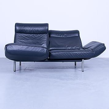 De sede DS 450 Diseñador Sofá Azul Oscuro Piel Función 2 ...