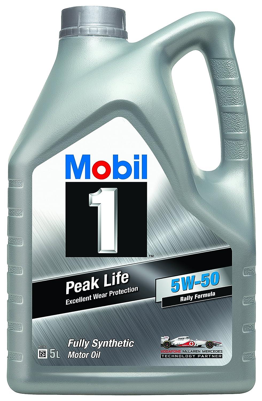 Mobil 1 Aceite de Motor nbsp;Peak Life 5W-50, 5 litros: Amazon.es: Coche y moto