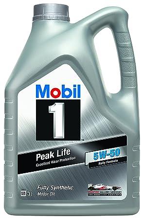 Mobil 1 Aceite de Motor nbsp;Peak Life 5W-50, 5 litros