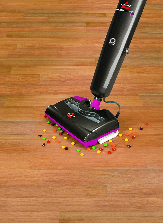 Amazon.com   BISSELL Steam U0026 Sweep Pet Hard Floor Cleaner, 46B43   Floor  Steamer