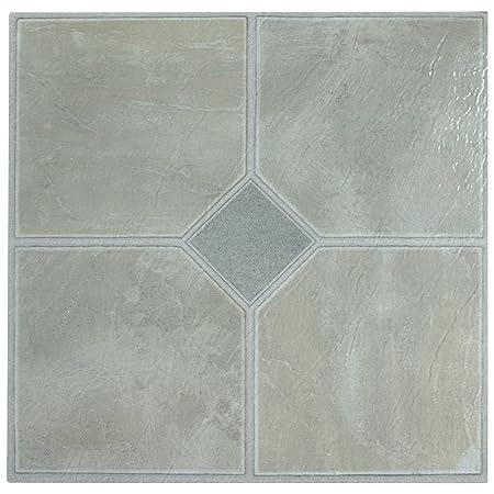 60 X Vinyl Floor Tiles Self Adhesive Kitchen Bathroom Sticky