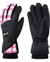 KINEED Ladies Women Winter Ski Snowboard Cycling Waterproof Warm Gloves Thinsulate Insulated