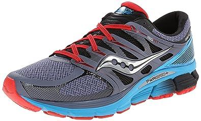 Saucony Men's Zealot ISO Series Running Shoe, GreyBlueRed
