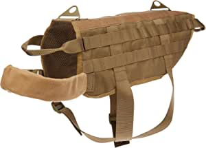OneTigris Tactical Dog Training Molle Vest Harness (Coyote Brown, L / 49cm)