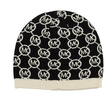 aa730a73 Michael Kors Jet Set Logo Skull Cap (Black/Cream) at Amazon Women's ...