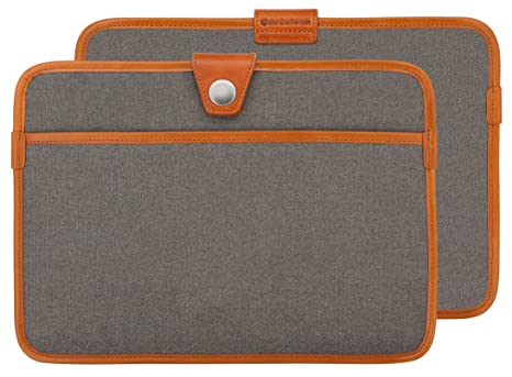 df5625477ab7 Ultra Slim 12 Inch Laptop Sleeve,Ultraportable Protective Laptop Sleeve  Briefcase Business Carrying Bag Genuine Leather Edging Laptop Case Bag  Cover ...