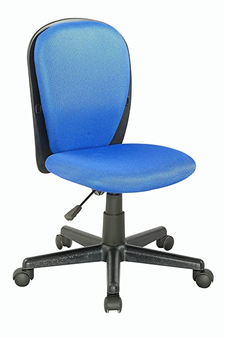 Chintaly Imports 4245 Youth Desk Chair, Black/Blue Cloth Mesh