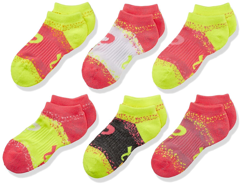 ASICS Youth Splatter No Show Yellow Ribbon Socks Medium Boys Assorted ASICS Sports Apparel ZKP2279