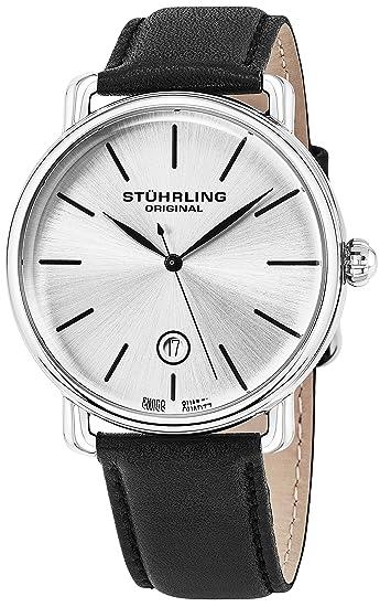 Stuhrling Original Classic vestido reloj de pulsera para hombres, Swiss analógico Dial de acero inoxidable