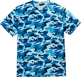 product image for Akwa Men's Made in USA Camouflage Crew Neck Camo T-Shirt with Moisture Wicking Polyester