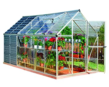 palram grow and store 6 x 12 greenhouse and storage shed