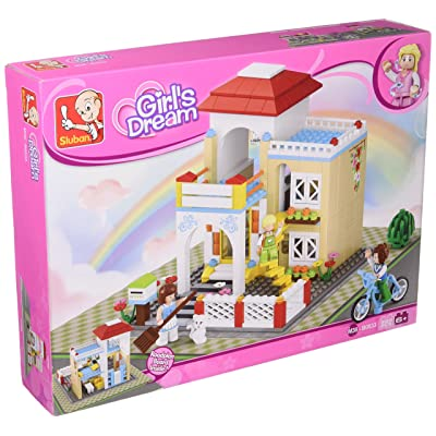 Sluban Girl's Dream Sweet Home - 381 Pieces (Brand New in Original English Box) 100% LEGO Compatible - Educational Toy - Building Blocks (M38-B0533): Toys & Games
