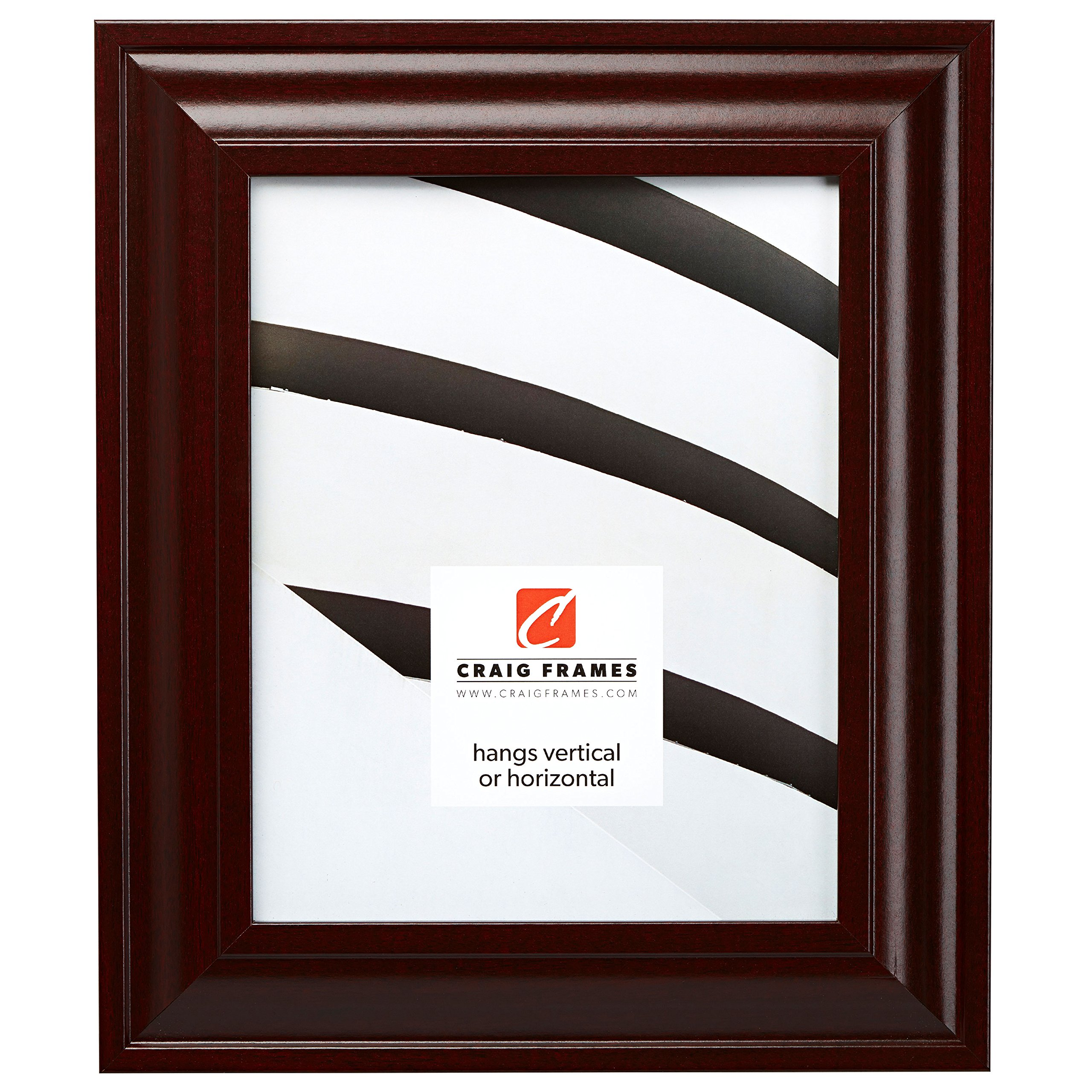 Craig Frames 76047 16 by 20-Inch Picture Frame, Smooth Wood Grain Finish, 2-Inch Wide, Dark Mahogany by Craig Frames