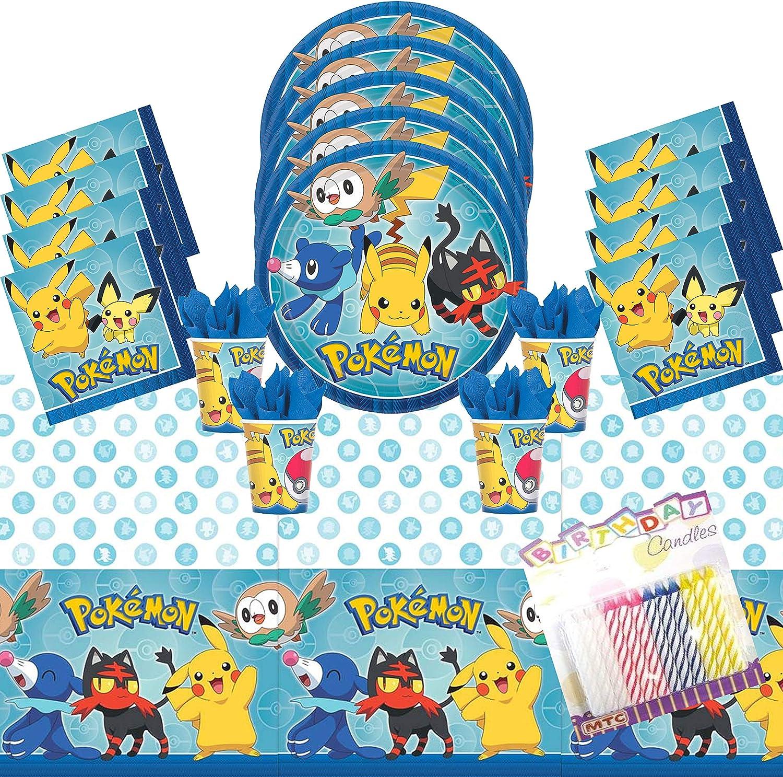 Pokemon Plates Napkins Birthday Party Set Tableware 3 pc set