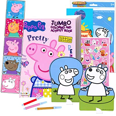 Buy Coloring And Activity Set - Bundle Includes Peppa Pig Coloring Book, Peppa  Pig Stickers, And 2-Sided Door Hanger (Peppa Playpack & Coloring Book)  Online In Indonesia. B08L9NYZX3
