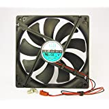 140mm 25mm New Case Fan 12V DC 153CFM CPU Computer Cooling 2 Wire Ball Bearing
