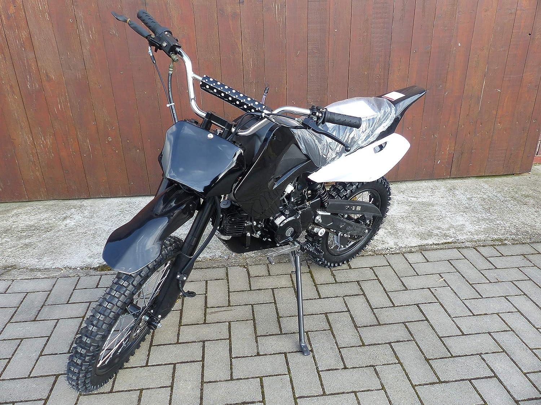 125ccm Dirtbike Cross Pit Bike 4 Takt 17 14 Reifen Inkl E Starter Von Rv Racing Auto