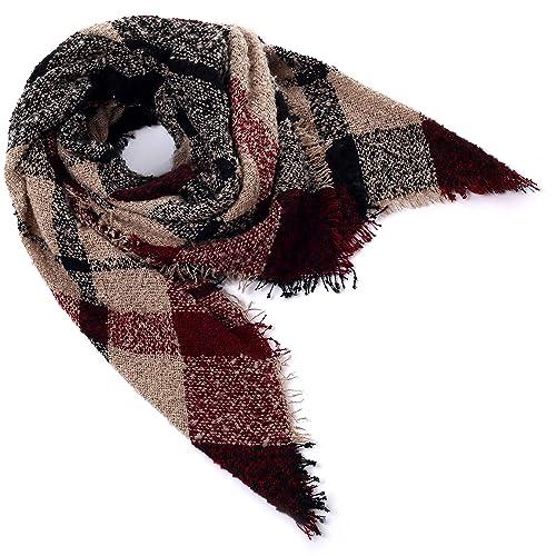 Mindbreaker – Set de bufanda, gorro y guantes – para mujer Marrón marrón Large
