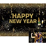 Zhy Champagne Party Backdrop Polyester Fabric 7x5ft New Year Party Photos Background Bokeh Backdrop Glitters New Year Festival Celebration Champagne Sampling Party New Year Eve Events Props