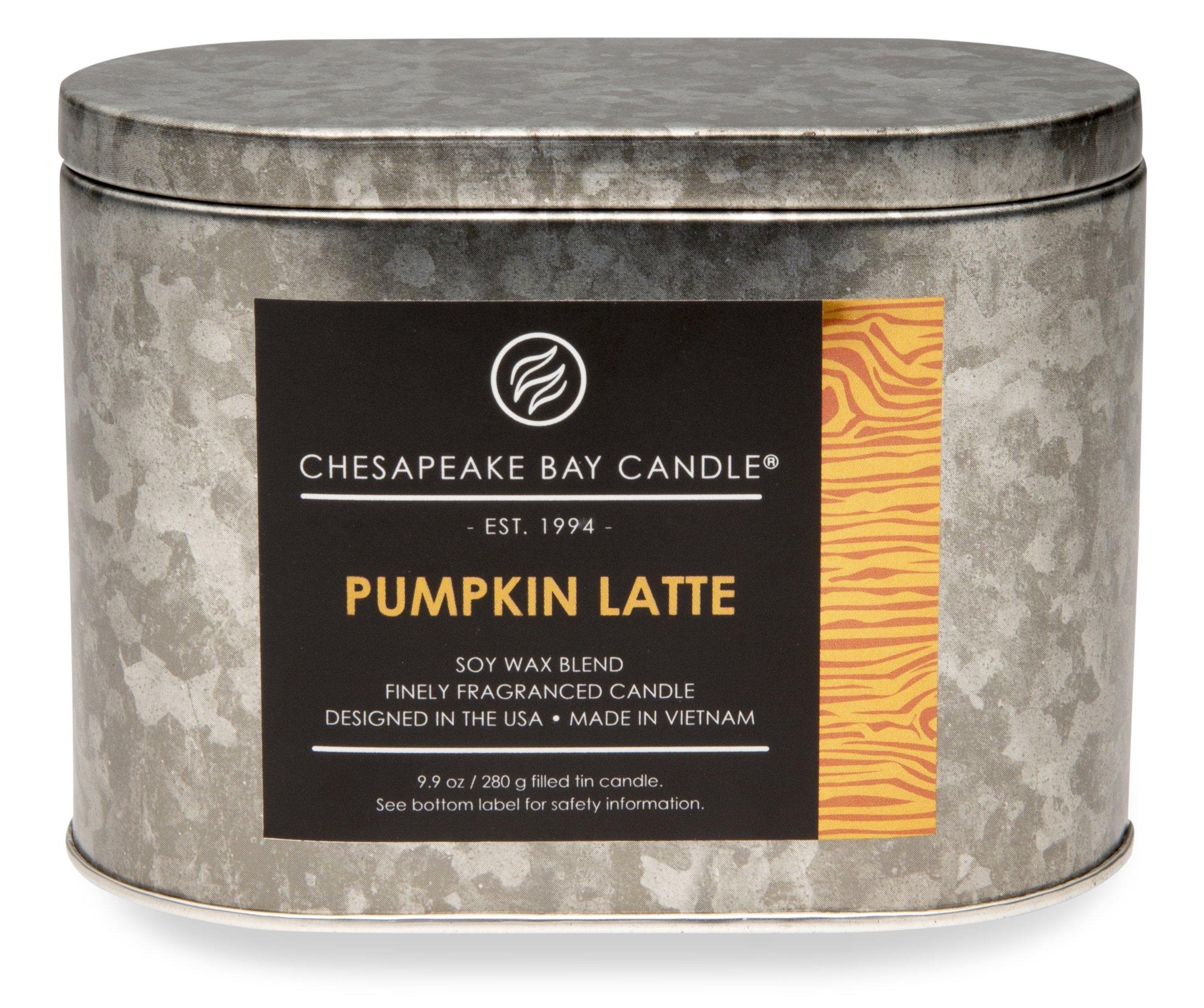 Chesapeake Bay Candle Heritage Two-Wick Tin Scented Candle, Pumpkin Latte by Chesapeake Bay Candle