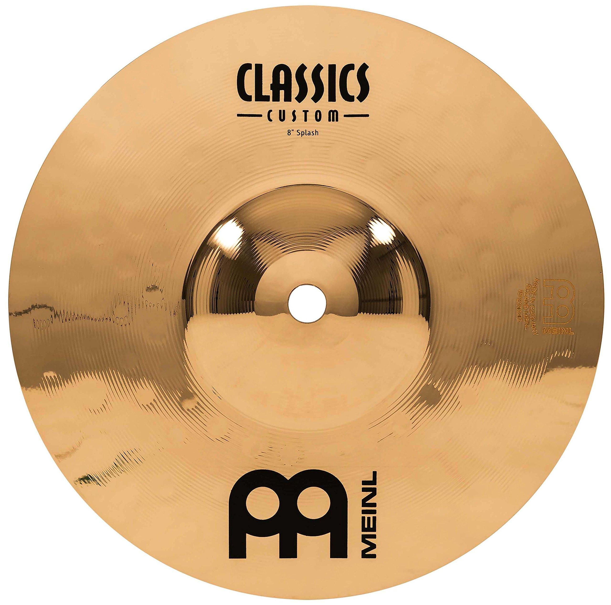 Meinl Cymbals CC8S-B Classics Custom 8-Inch Brilliant Splash (VIDEO)
