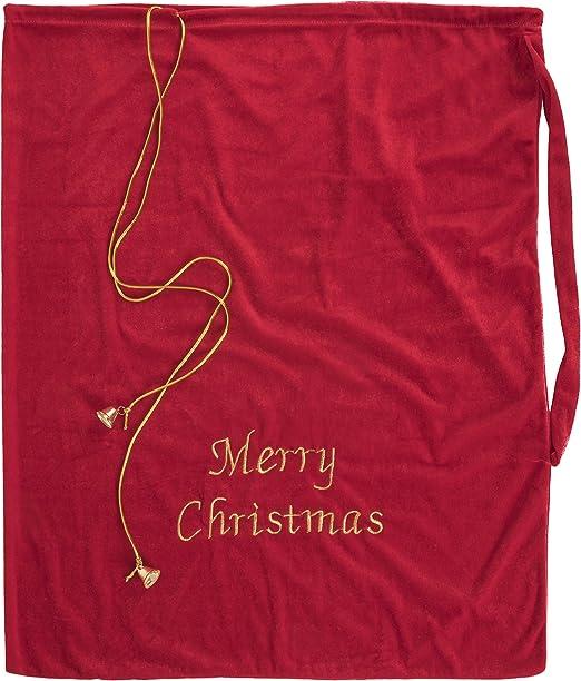 Santa Sack Merry Gothmas Black 46x60cm