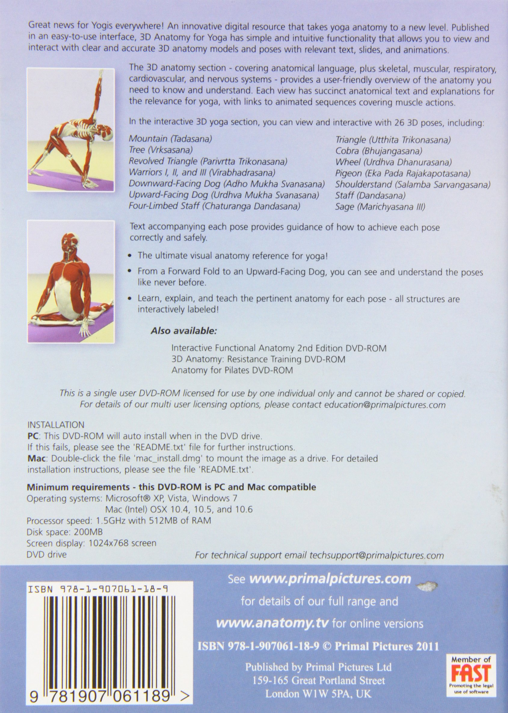 Buy 3D Anatomy for Yoga: The Essential Guide DVD: The Essential ...