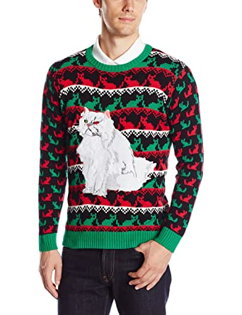 Blizzard Bay Men's Krazy Kitty Ugly Christmas Sweater at Amazon ...