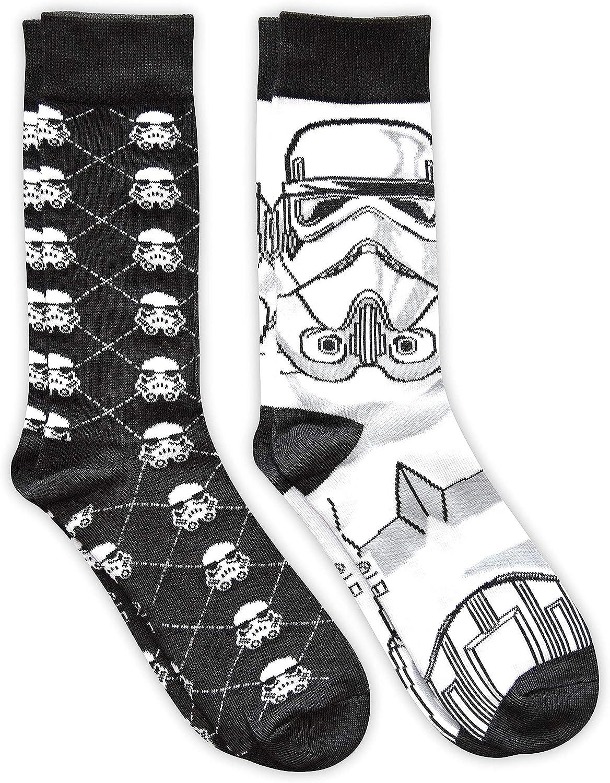 Star Wars Stormtrooper Argyle Men's Crew Socks 2 Pair Pack Shoe Size 6-12