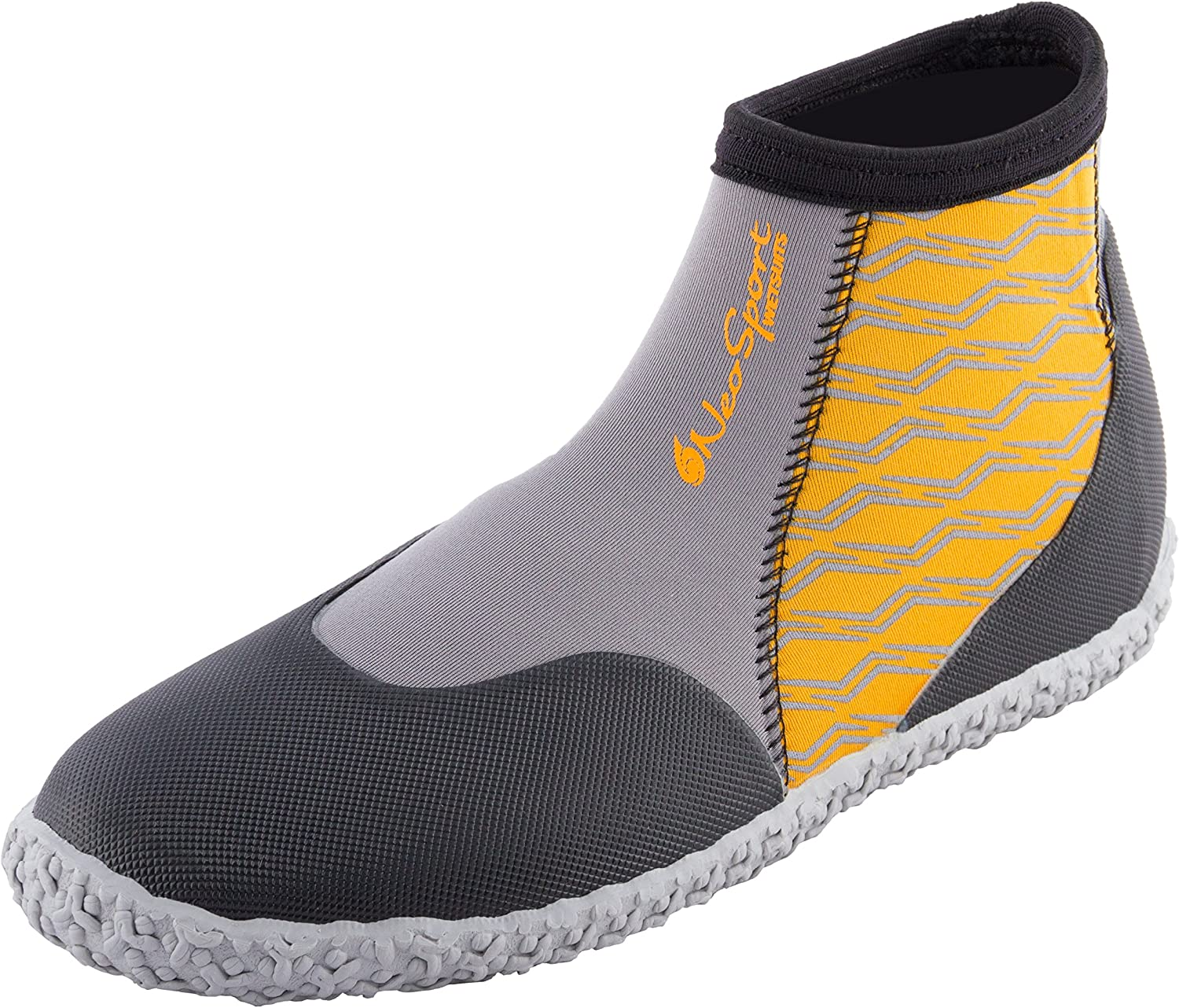 NeoSport Wetsuits Premium Neoprene 5mm Low Top Pull On Boot- Water Shoes, Surfing & Diving