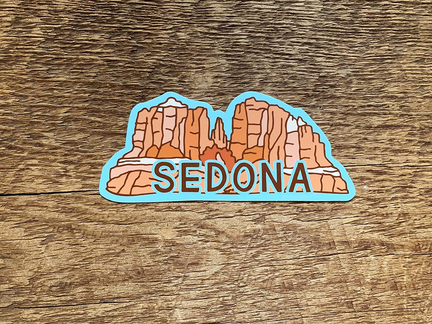 Sedona Sticker, Sedona Arizona Sticker, Bumper Sticker, Single Die Cut Vinyl Sticker