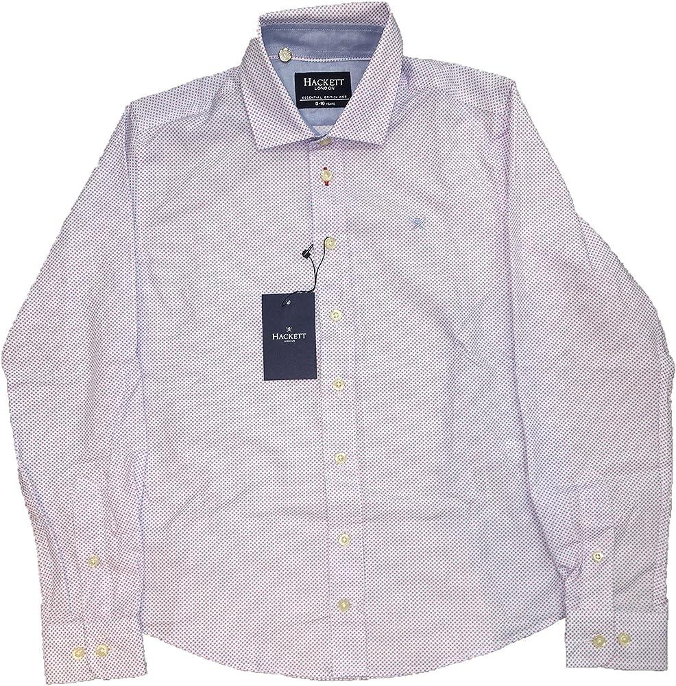 Hackett London Hackett - Bubble PRITN Shirt - Camisa Estampada para Niño: Amazon.es: Ropa y accesorios