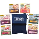 BALMSHOT Lip Balm 6 Pack w/ Ditty Bag