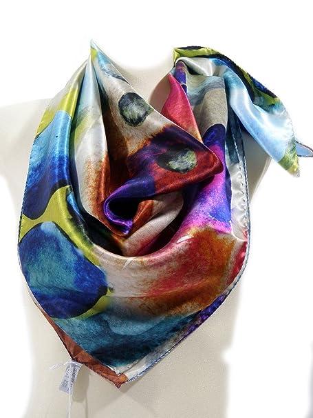 seleziona per il meglio negozio online vasto assortimento Laura Biagiotti, Foulard cm.90X90, 100% Seta raso - C8454N03 ...